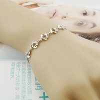 Hot Sale Gift Great Deal Shiny Stylish New Arrival Awesome 925 Silver Simple Design Ladies Hollow Out Accessory Bracelet [8379671367]