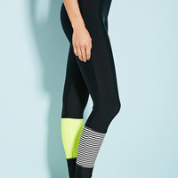 Colorblocked Stripe Surf Leggings