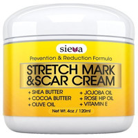 Stretch Marks & Scars Cream - Best for Stretch Mark Removal - Body Moisturizer for Prevention and Reduction of Old & New Scars - Natural & Organic for Pregnancy, After Birth, & Men - By Sieva Skincare