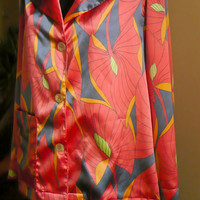 Satin silk pajama, for men, made to order, you choose your color combination, perfect gift for him