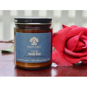 Calm Candle - Vanilla Rose