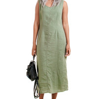Vintage Sage Green Midi Dress - One Size Fits Many