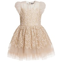 Gold Dress With Detachable Collar