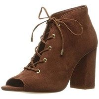 Very Volatile Womens Wishful Suede Open Toe Booties