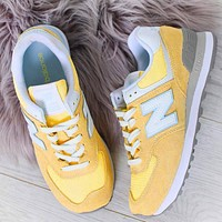 Alwayn New Balance Z-shaped shoes sports casual running shoes tide retro shoes Yellow