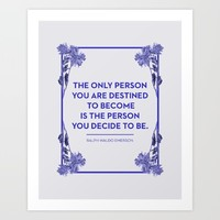 Destined Art Print by Heart Of Hearts Designs