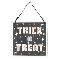 Halloween Trick Or Treat/Out of Candy Wall Hanging With Glitter - Hyde and Eek! Boutique™