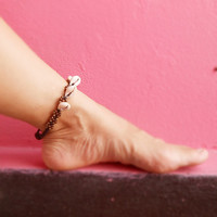 Sea Shell Brass Beads Anklet Gift