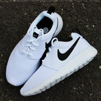 """""""NIKE"""" Trending Fashion Casual Sports Shoes Contrast White"""