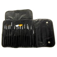MASH Professional 15 piece Nail Art Brush Kit Set:Amazon:Beauty