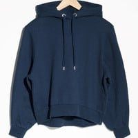 & Other Stories | Shoulder Pad Sweatshirt | Blue