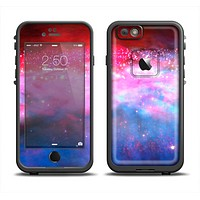 The Vivid Pink and Blue Space Apple iPhone 6 LifeProof Fre Case Skin Set