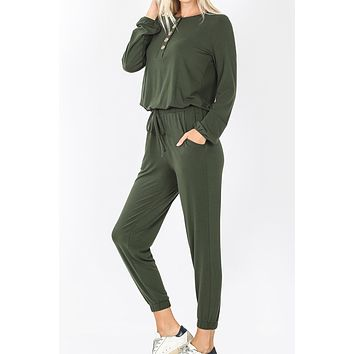 Ankle Length Jogger Jumpsuit