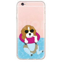 Smug Puppy in a  Pool Float Case for iPhone