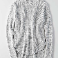 Don't Ask Why Mock Neck Sweater, Gray