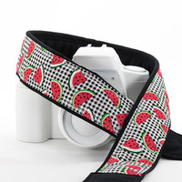 Watermelon dSLR Camera Strap, SLR, Plaid, Red, 98