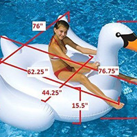 Swimline 90621 - The Original Giant Swan Ride-On - 75-inch Float Pool Beach