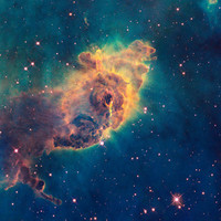 We Are Not Alone, Carina Nebula Blue Green | PrintCollection