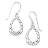 Braid Design French Wire Earrings