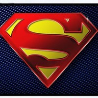 Superman Logo Black RUBBER iphone 4 case - Fits iphone 4 & iphone 4s