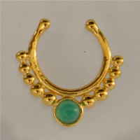 Fake Septum Ring - Faux Septum Ring - Fake Septum Piercing - Nose Jewelry - Septum Jewelry - Gold Plated Septum For Non Pierced Nose