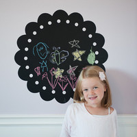 Chalk Wall Decal Frame Childrens Room Decal by urbanwalls on Etsy