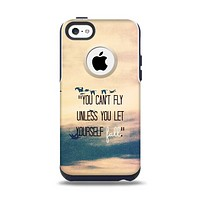The Pastel Sunset You Cant Fly Unless You Let Yourself Fall Apple iPhone 5c Otterbox Commuter Case Skin Set