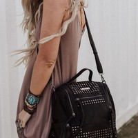On A Date Crossbody Backpack - Black