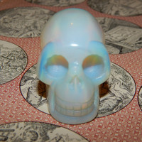 Carved OPALITE SKULL - 2 Inch Opalite Carved Skull - Metaphysical Healing Crystals - Gemstone Collection - Skull Specimen Gemstone