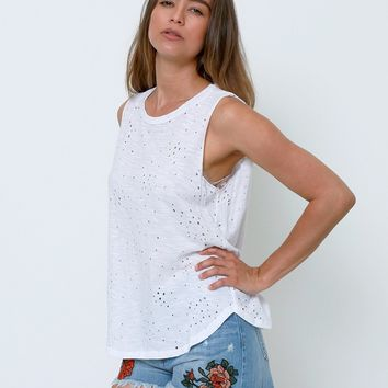 My Kind Of Day Top - White Tee
