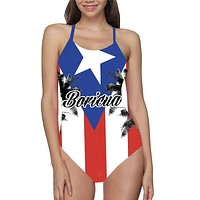 Puerto Rico Flag Bathing Suit