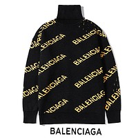 BALENCIAGA Autumn Winter Newest Fashion Casual High Collar Top Sweater Sweatshirt