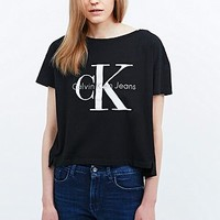 Calvin Klein Jeans Square Tee in Black - Urban Outfitters