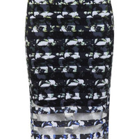 Stripe Floral Printed Skirt - View All - New In