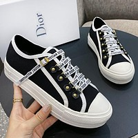 DIOR New Fashionable Women Casual Canvas Sneakers Sport Shoes