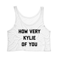 How Very Kylie Of You Tank Top Crop