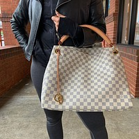 Louis Vuitton LV Women Shopping Bag Leather Tote Handbag Satchel Bag