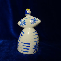 VINTAGE Porcelain Figurine Soviet girl dancing blue russian antique ussr