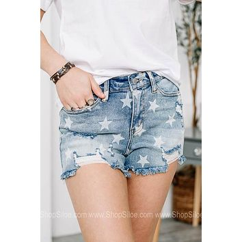 Like A Star Denim Shorts