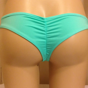 Kini Kai Brazilian Scrunch Surf Bottom Mint Green