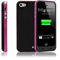 2500mAh Portable Charger Chargeable Power Bank Backup Case External Power Backup Battery For iPhone 5 5S (Black)