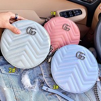 Onewel Gucci 2020 new Round Type macaron series bags Three Color select blue pink