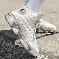 Air Jordan 13 Fashion Men Sport Shoes Basketball Sneakers Beige White&Grey