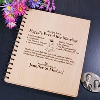 Personalized Engraved Happily Ever After Recipe Card Holder