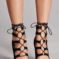 Liliana Faux Suede Cutout Boots