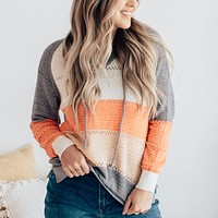 Colorblock Hooded Sweater