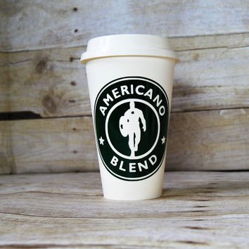 Captain America Starbuck's Style Cup - Custom Reusable Coffee Cup - Cosplay Accessory - Starbucks Cup