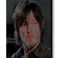The Walking Dead Daryl Dixon Quotes Mosaic INCREDIBLE