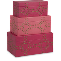 Julia Studded Boxes - Set of 3