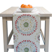 Table Runner White, Red, Green, Yellow, Blue in 72 inches, 90 inches, 108 inches and 120 inches long size